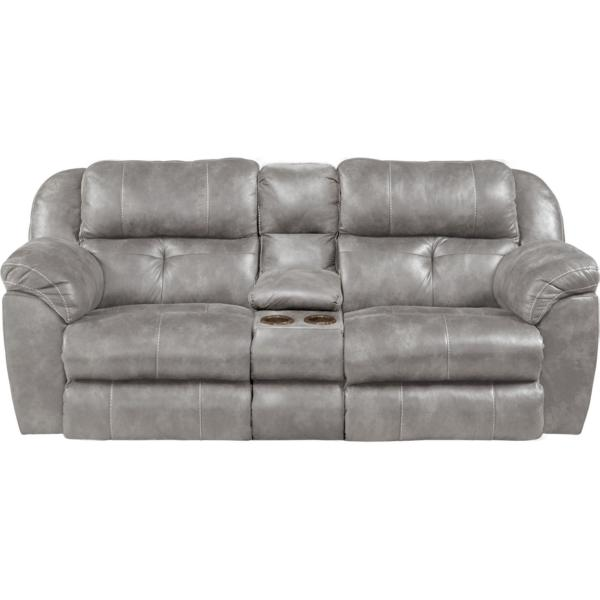 Farley Power Reclining Console Loveseat - STEEL