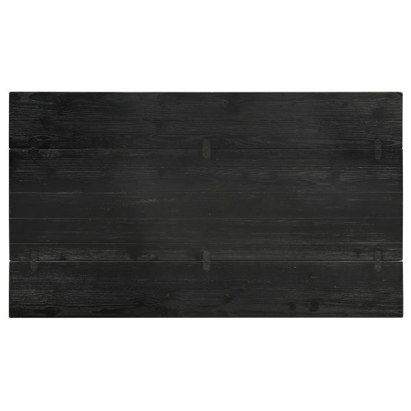 Owen Black Fliptop Console Table