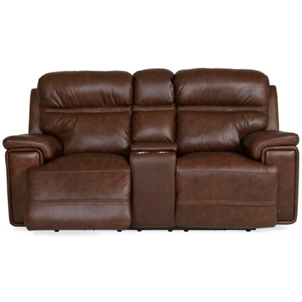Fresno Leather Power Reclining Loveseat