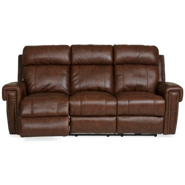 Cedar Leather Power Reclining Sofa
