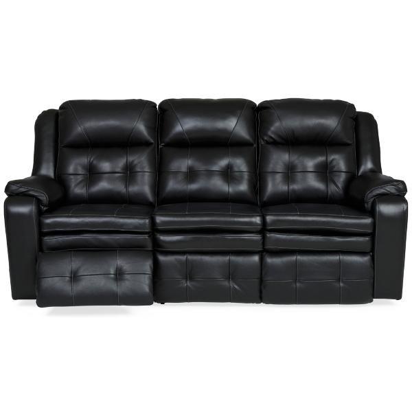 Inspire Leather Power Reclining Sofa - NIGHT
