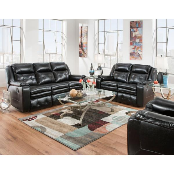 Inspire Leather Power Reclining Loveseat - NIGHT