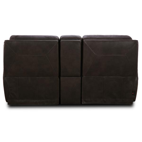 Dexter Leather Power Reclining Console Loveseat