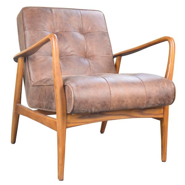Magnificent Oliver Leather Accent Chair Creativecarmelina Interior Chair Design Creativecarmelinacom