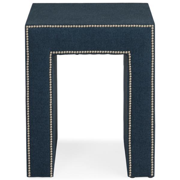 Mason Boho Weave Indigo Side Table