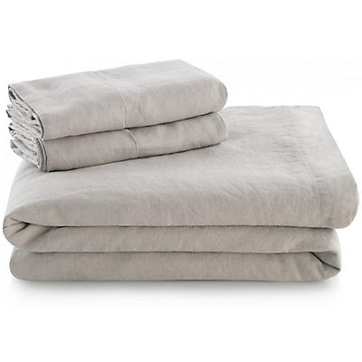 Woven French Linen Sheet Set - FLAX - QUEEN