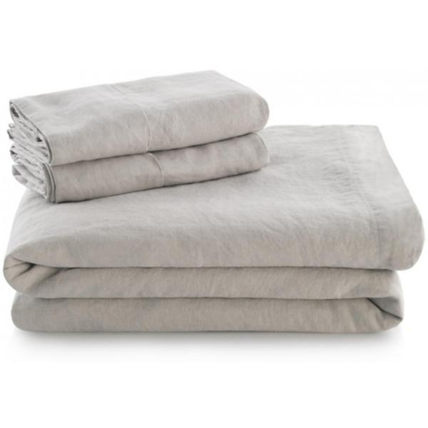 Woven French Linen Sheet Set - FLAX