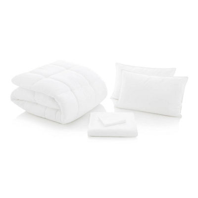 Woven Bed in a Bag - WHITE - TWIN