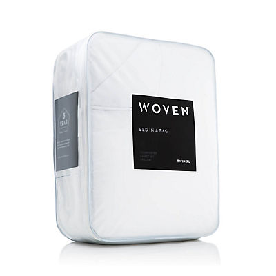 Woven Bed in a Bag - WHITE - FULL