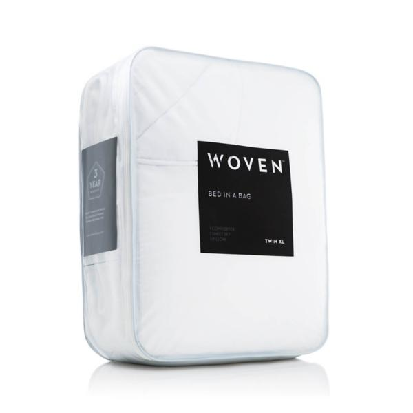 Woven Bed in a Bag - WHITE