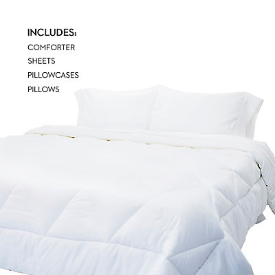 Woven Bed in a Bag - WHITE - QUEEN