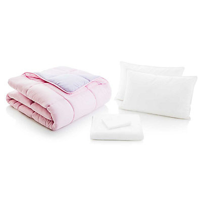 Woven Reversible Bed in a Bag - LILAC/BLUSH - QUEEN