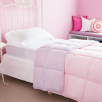 Woven Reversible Bed in a Bag - LILAC/BLUSH - KING