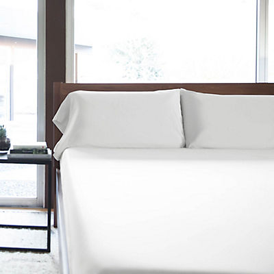 Woven Rayon from Bamboo Sheet Set - WHITE - QUEEN