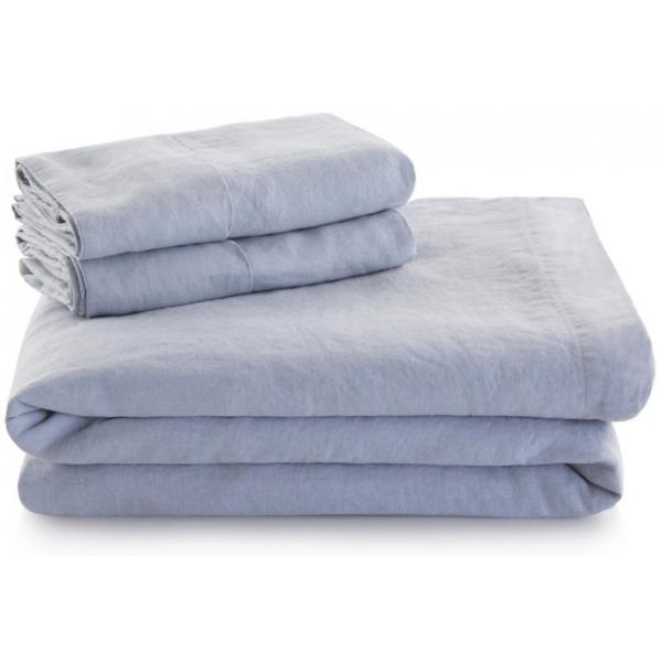 Woven French Linen Sheet Set - SMOKE