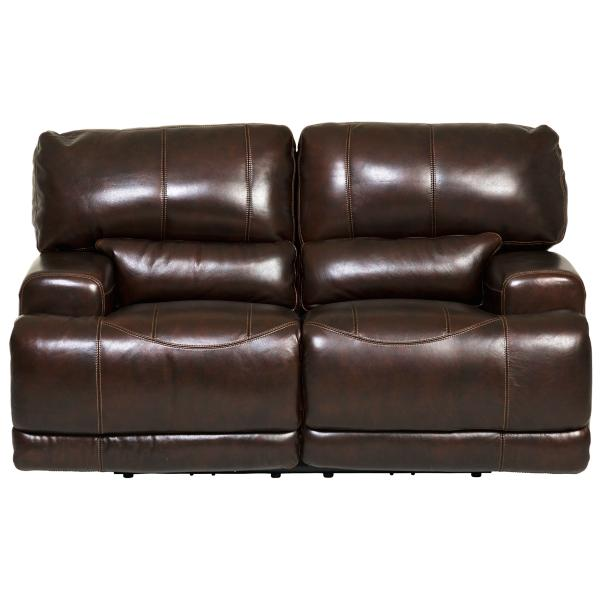 Dash Leather Power Reclining Loveseat - COFFEE