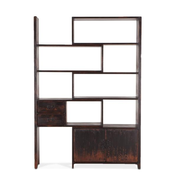 Industrial Loft Library Sliding Etagere