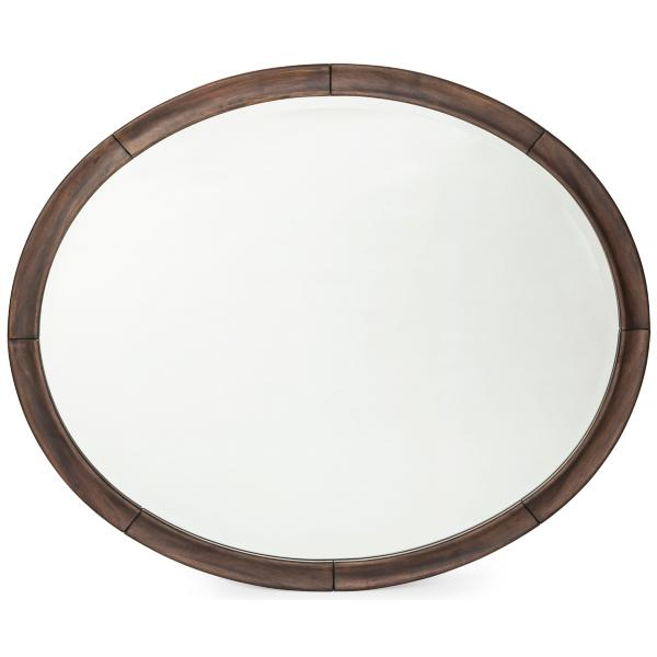 Louis Philippe Nougat Oval Mirror
