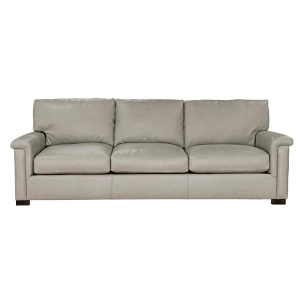 Colton Leather 3-Seat Sofa - DOVE