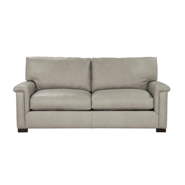 Colton Leather 2-Seat Sofa - DOVE