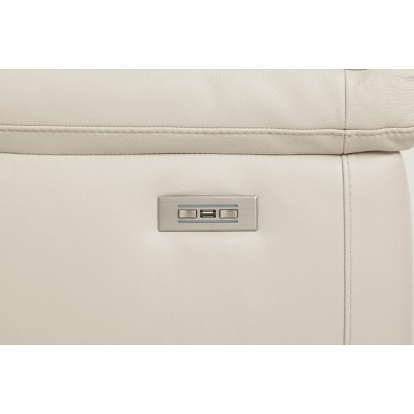 Matera Leather Power Reclining Loveseat - DOVE