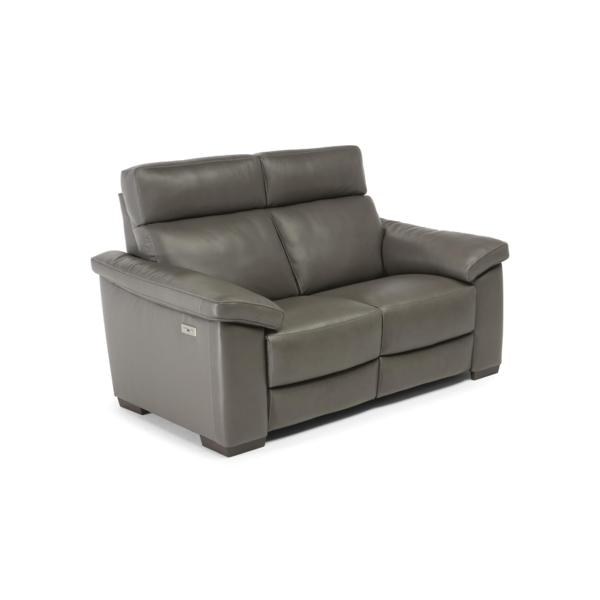 Matera Leather Power Reclining Loveseat - SMOKE