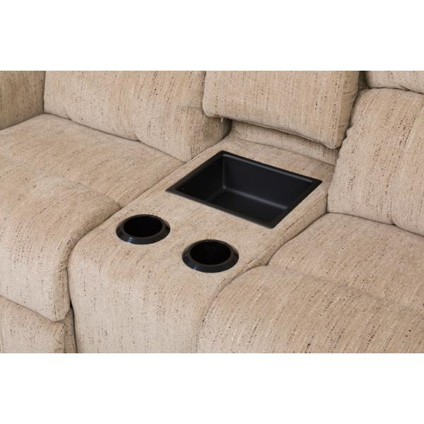 Briggs Power Reclining Console Loveseat - TOBACCO