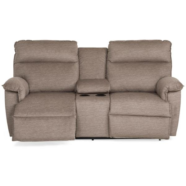 Jay Power Reclining Console Loveseat - FOSSIL
