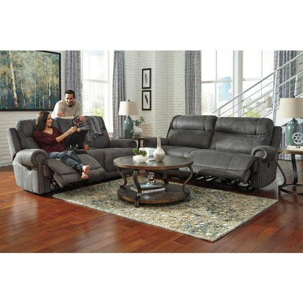 Adam Power Reclining Console Loveseat - SLATE