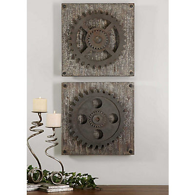 The Wright Gears Wall Decor Set of 2