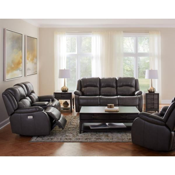 Kirby Leather Power Reclining Sofa