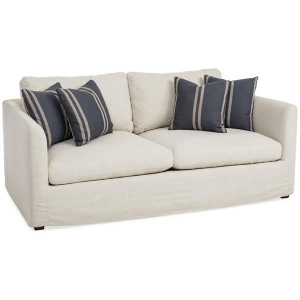 Luna 75 Inch Slipcover Sofa