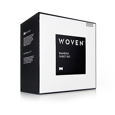 Woven Rayon from Bamboo Sheet Set - WHITE - KING