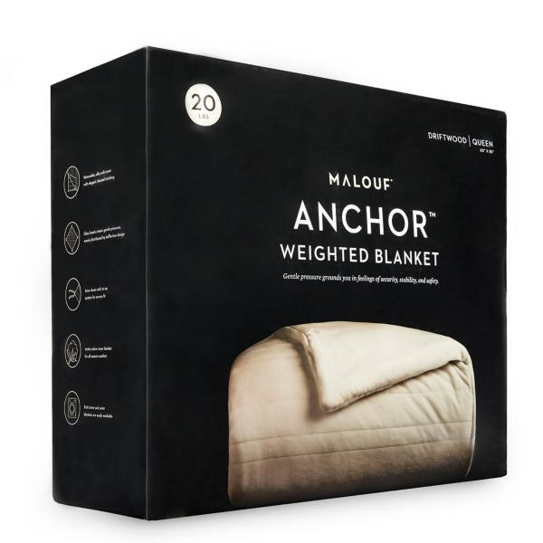 Malouf Anchor Weighted 15 lb. Blanket Throw - DRIFTWOOD