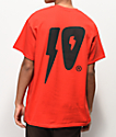 10 Deep 10 Strikes camiseta roja