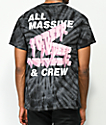 10 Deep Tenth Division Massive Black Tie Dye T-Shirt