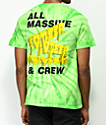 10 Deep Tenth Division Massive camiseta verde con efecto tie dye