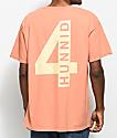 4 Hunnid Hit Ups Coral T-Shirt