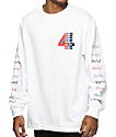 4 Hunnid Logo White Long Sleeve T-Shirt