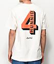4 Hunnid Shadow Logo Tan T-Shirt
