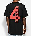 4 Hunnid Triple 4 camiseta negra