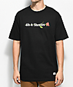 40s & Shorties 40s Text Logo Rose Black T-Shirt