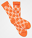 40s & Shorties Checkerboard Stash Orange Crew Socks