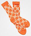 40s & Shorties Checkerboard Stash calcetines anaranjados
