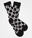 40s & Shorties Checkerboard Stash calcetines negros
