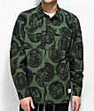40s & Shorties Expat Olive & Black Shirt Jacket