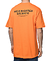 40s & Shorties General Logo camiseta en color naranja