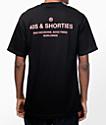 40s & Shorties General camiseta en negro y rosa