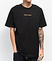 40s & Shorties Orange Camo Text Logo Black T-Shirt