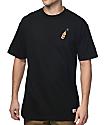 40s & Shorties Rose 40 Black T-Shirt